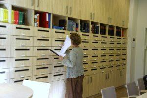 Postvakkenkast Felisenum personeelskamer