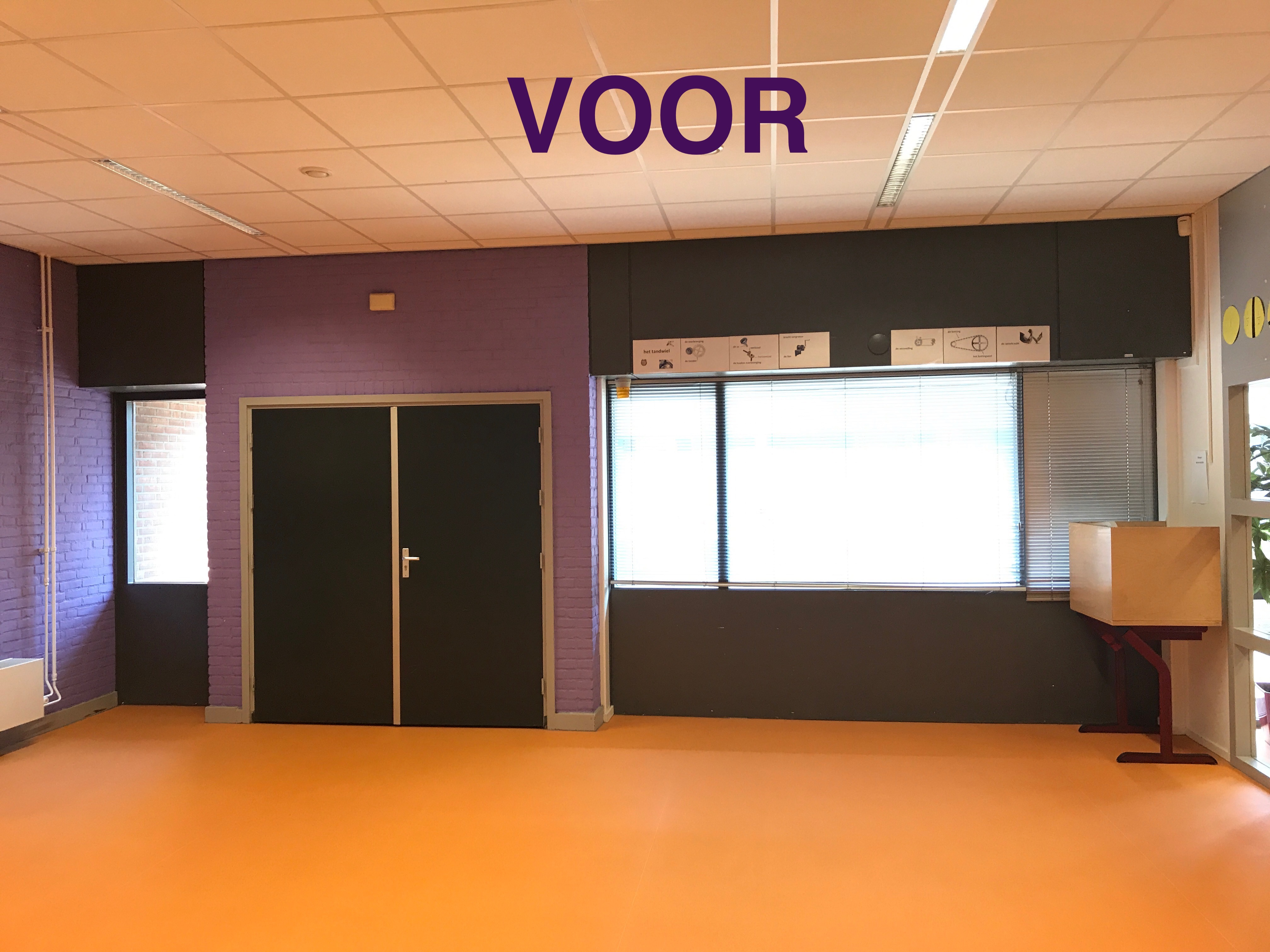 Foto voor Personeelskamer teamkamer inrichting basisschool Gouda