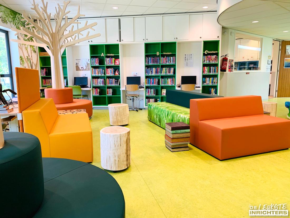 An Noer inrichting bibliotheek zitelementen